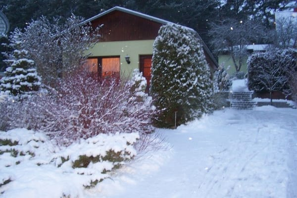 Im Winter auch ein gemütliches Ferienhaus