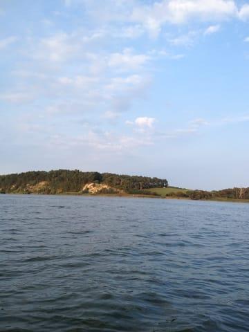 vom Boot aus, Blick auf den Loddiner Höft