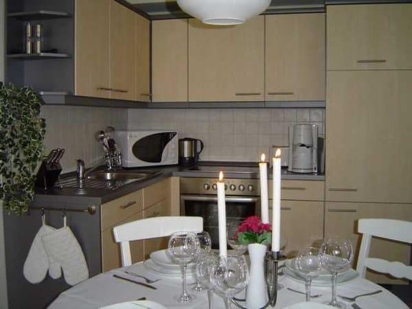 offene Küche...hier macht kochen und essen Spaß