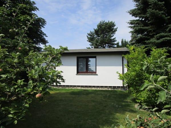 Ferienhaus (Wohnzimmerfenster) Blick in den Garten