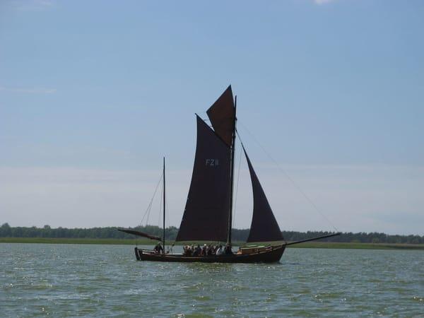 Historisches Zeesenboot auf dem Bodden