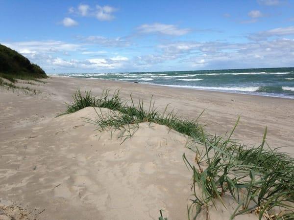 erholsame Spaziergänge am nahen Strand