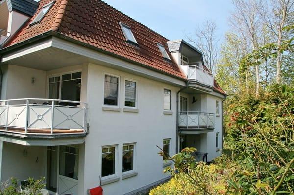 Blick auf die Wohnung im Dachgeschoss