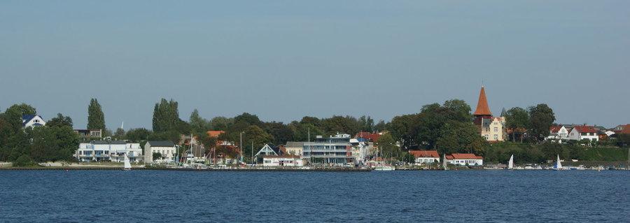 Panorama Altefähr Insel Rügen am Strelasund
