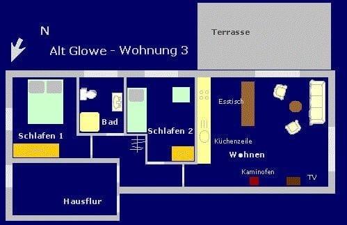 Grundriss der Wohnung 3