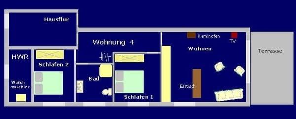 Grundriss der Wohnung 4