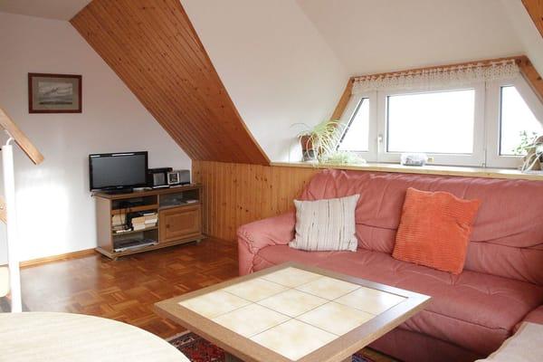 Wohnzimmer der FW2 mit Blick über den Bodden