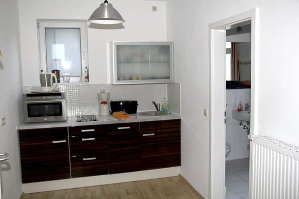 kleine aber voll ausgestattete Küchenzeile
