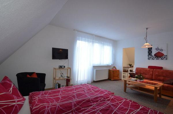 Sehr schönes Appartement für 2 Personen mit kleiner Küche sehr hell und Sonnig und natürlich Ruhig ! Aufbettung für 1 Person nach Absprache möglich