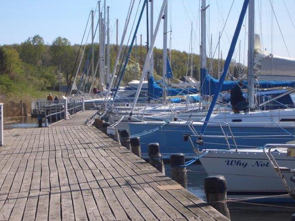 Boote im Hafen Seedorf