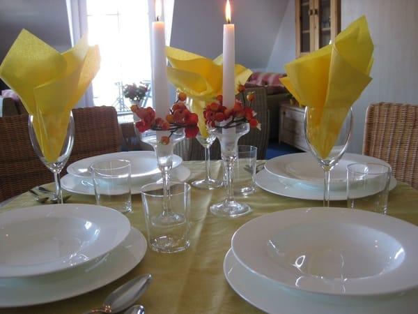Die exklusive Ferienwohnung ist natürlich auch mit exklusiven Geschirr ausgestattet - Geschirr von Villeroy & Boch !
