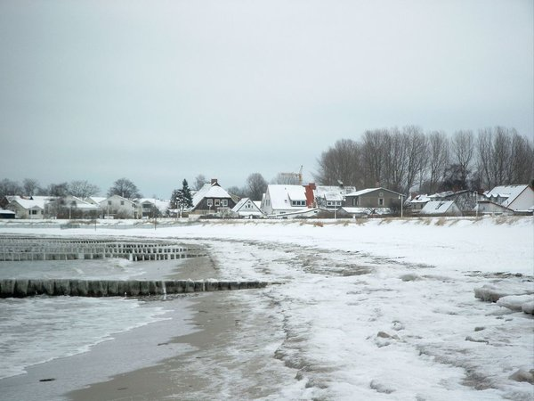 Glowe - Strand im Winter