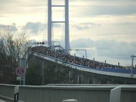 Die neue Brücke bei der Einweihung am 21.10.2007