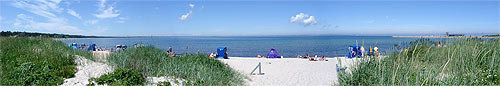 Ca. 150 m ist dieser schöne Strand vom Ferienhaus entfernt.
