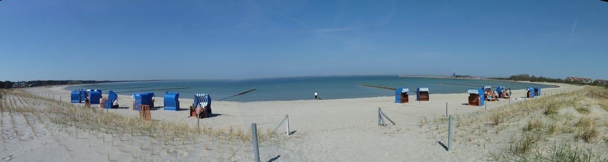 Der Strand vor der Türe
