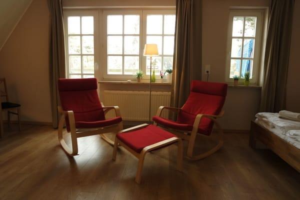 Sitzecke im Appartement 1