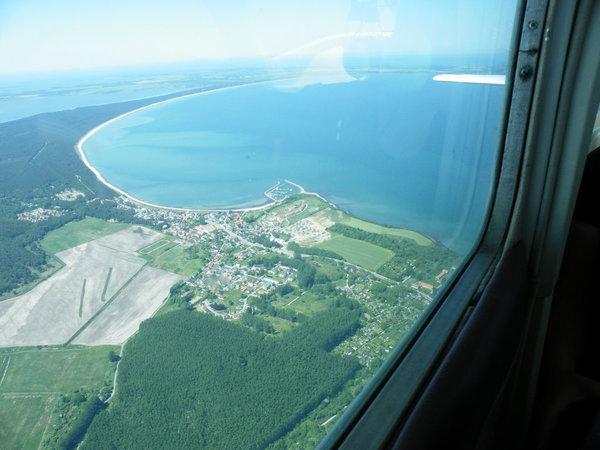 Luftaufnahme von Glowe