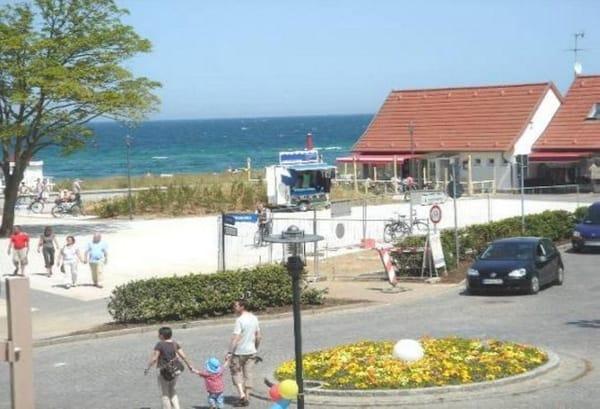 Blick vom Balkon in Richtung Strand