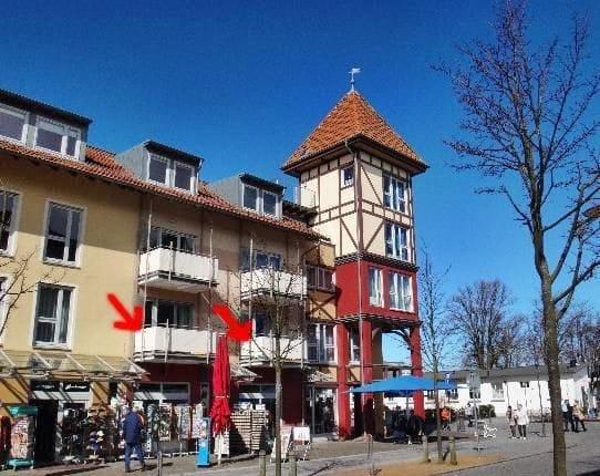 Balkon, von hier aus der rechte Pfeil