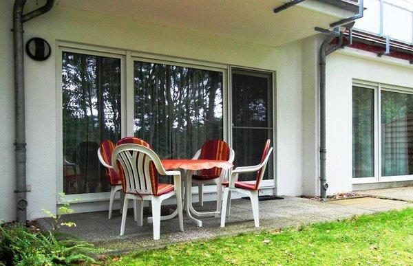 Terrasse mit Mobiliar