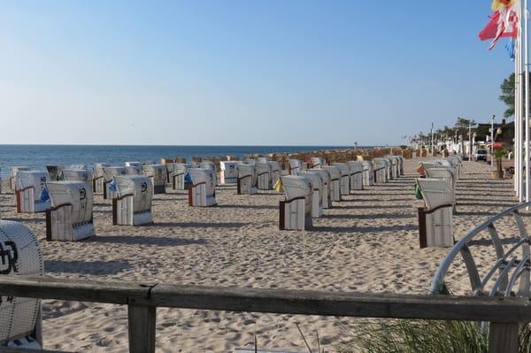 Dies ist der schöne Strand von Dahme.