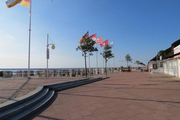 Die schöne Promenade von Dahme, hier gibt es auch freies WLAN.