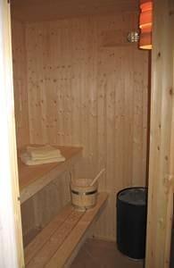 Sauna im Bad Erdgeschoss