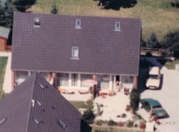 Luftbild unseres Mittelreihenhauses