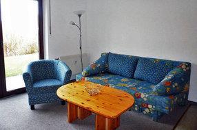 Doppelbettcouch im Wohnzimmer