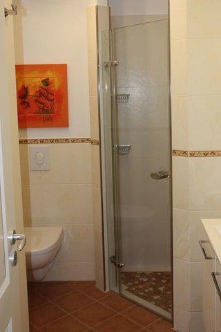 Großzügiges Duschbad, barrierefrei!