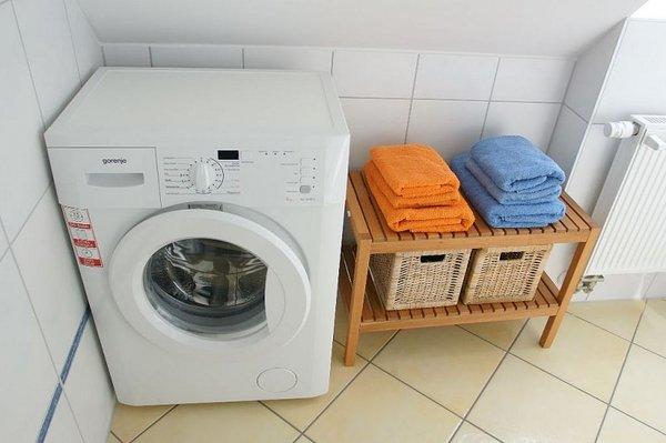 Eine Waschmaschine und ein Münz-Trockner steht Ihnen jederzeit zur Verfügung.
