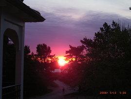 Meerblick vom Wohnzimmer... Sonnenaufgang... und nur ein paar Schritte bis zum weißen Traumstrand