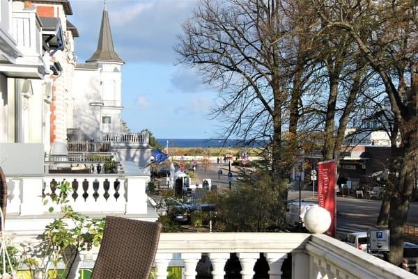 Ausblick vom Balkon zur Ostsee