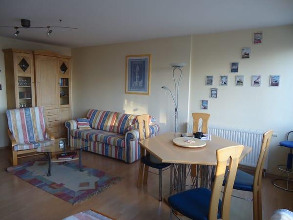Gemütlicher Wohnzimmerbereich in der Villa Brunhilde.