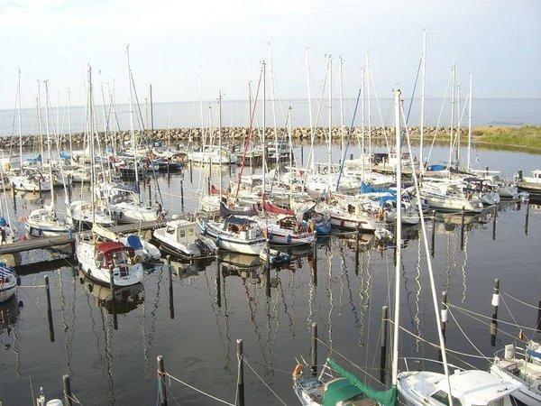 kleiner Fischerei- u. Yachthafen in Glowe