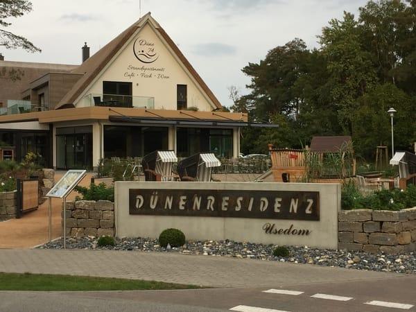 Ein schickes Restaurant ist für die Gäste der Dünenresidenz fußläufig erreichbar