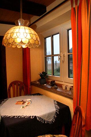 Blick aus dem Fenster zum Bodden/ Wohnbereich