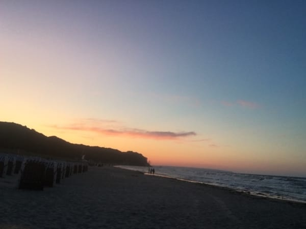 Sonnenuntergang Strand Baabe