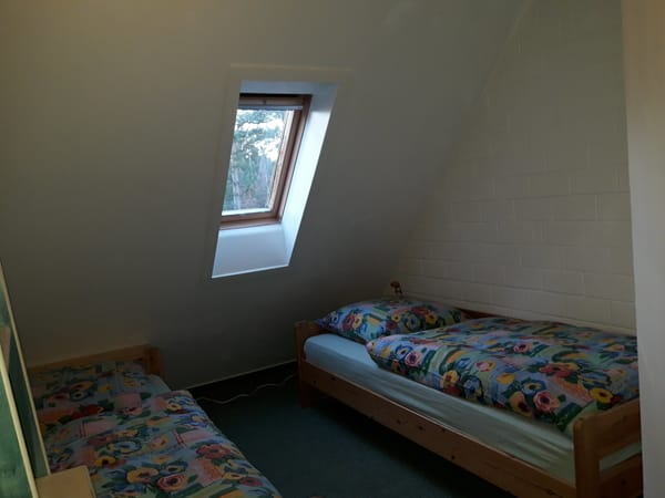 Schlafraum im OG, 2x Einzelbett