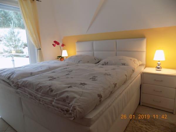 neues Bosspringbett für einen wunderbaren Schlafkomfort und Waldblick