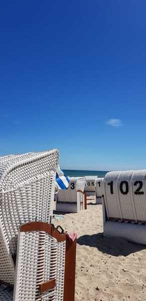 Sommerstimmung am Strand von Baabe