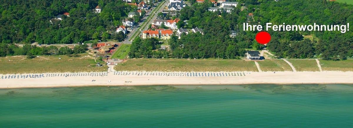 Hier wohnen Sie weniger als 100m vom feinsandigen Strand entfernt!
