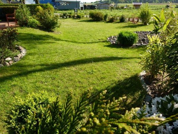 Der Garten läd zum Spielen ein