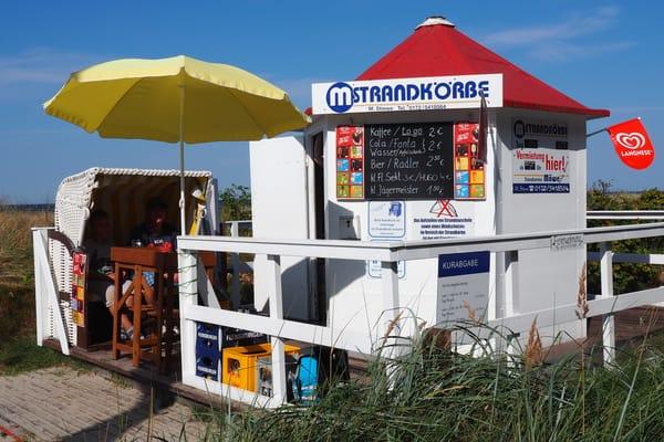 Strandkorbvermietung & Strandzugang direkt gegenüber 100 mtr.