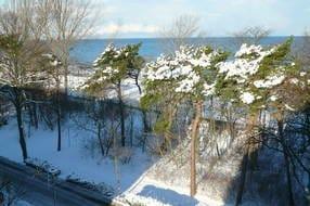 winterlicher Ausblick von der Dachterasse