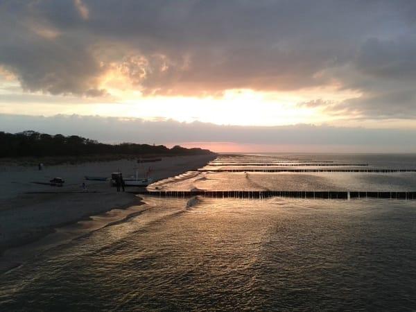 Strand in der Abendsonne