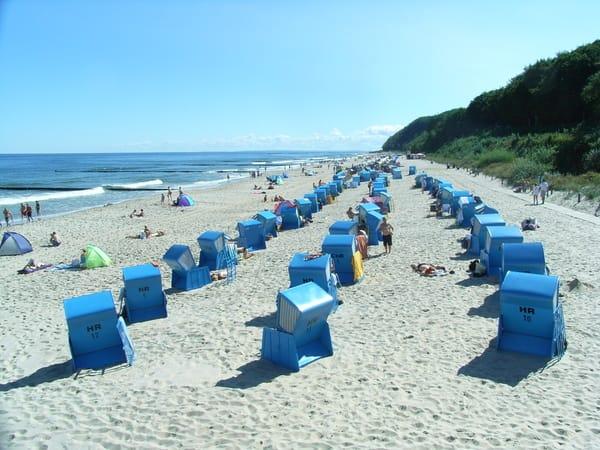 Gerne auch im Strandkorb (ab 5 Euro/Tag)