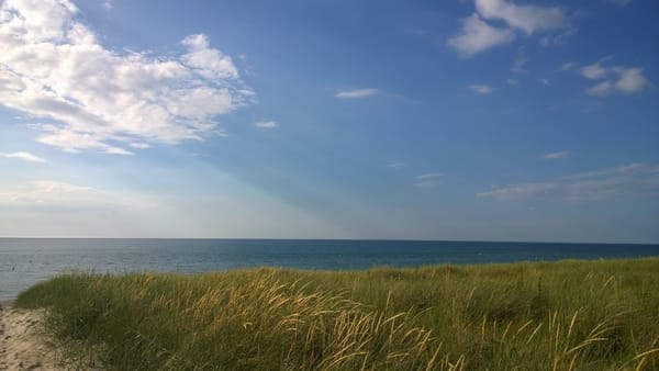 Der Weg zum Strand vorbei an den Dünen