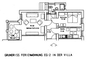 Grundriss Fewo EG-2 Villa