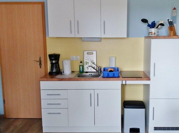 Küchenbereich mit Ceran-Kochfeld